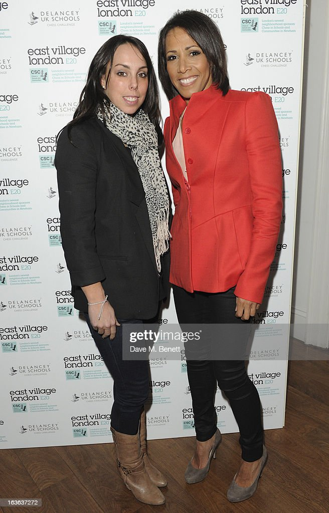 Beth Tweddle and Dame Kelly Holmes attends the launch of the 'Urban Chess' Funding Initiative from East Village at Mortons on March 13, 2013 in London England.