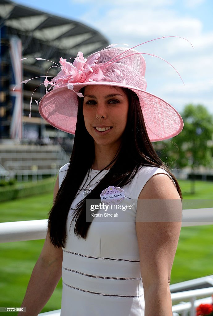Beth Tweddle attends Royal Ascot 2015 at Ascot racecourse on June 19 2015 in Ascot England