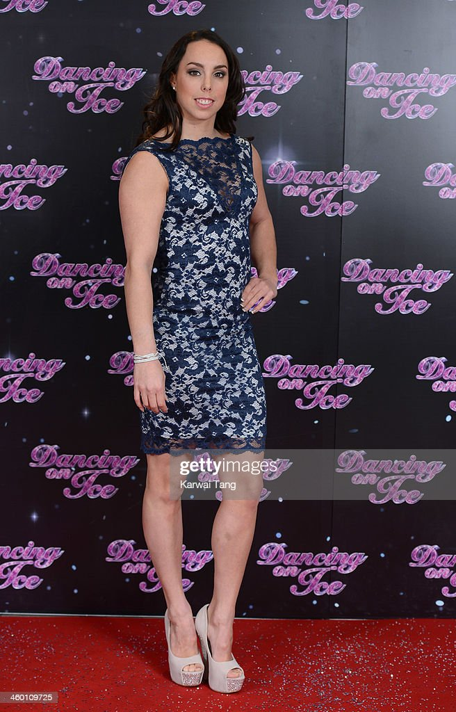Beth Tweddle attends the series launch photocall for 'Dancing on Ice' held at the London Studios on January 2, 2014 in London, England.