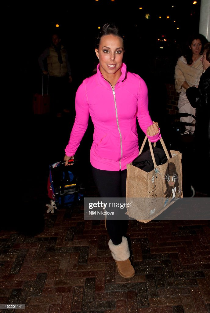 <a gi-track='captionPersonalityLinkClicked' href=/galleries/search?phrase=Beth+Tweddle&family=editorial&specificpeople=804240 ng-click='$event.stopPropagation()'>Beth Tweddle</a> is seen arriving at Hotel, Borehamwood on January 12, 2014 in London, England.