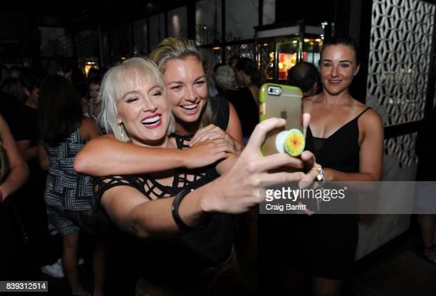 Bethanie Mattek Sands and Coco Vandeweghe attend the Citi Taste Of Tennis with Coco Vandeweghe and friends at Hakkasan Restaurant New York on August...