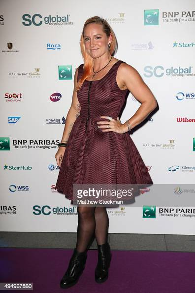 Bethanie MattekSands attends Singapore Tennis Evening during BNP Paribas WTA Finals at Marina Bay Sands on October 30 2015 in Singapore