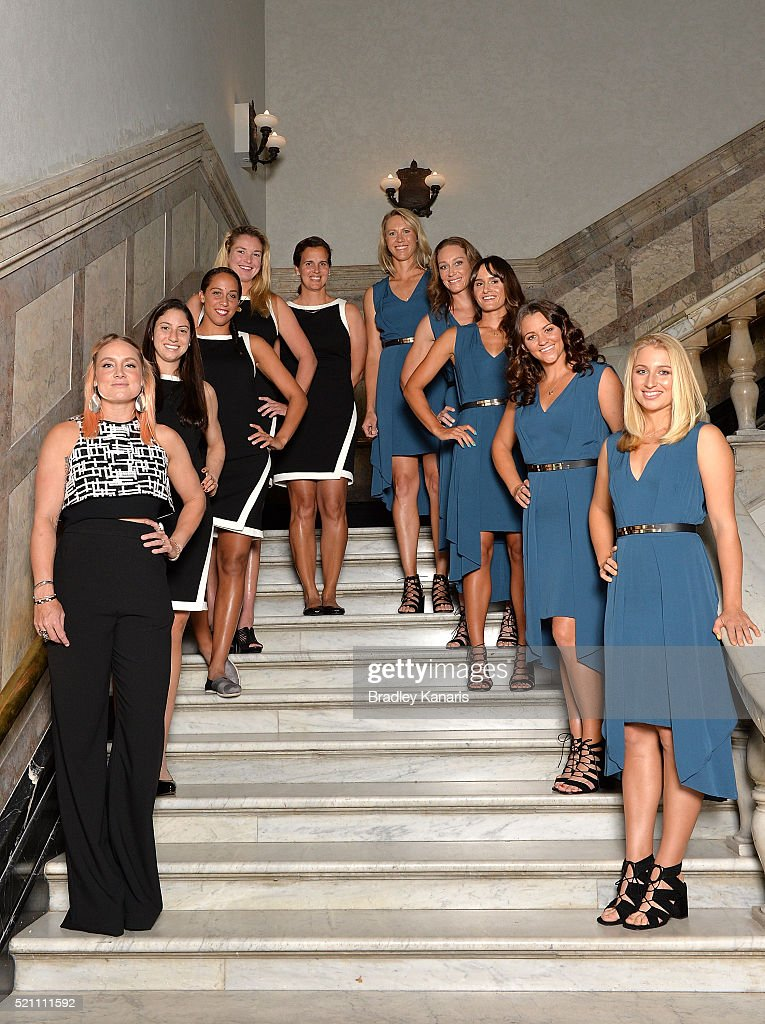 <a gi-track='captionPersonalityLinkClicked' href=/galleries/search?phrase=Bethanie+Mattek-Sands&family=editorial&specificpeople=7481266 ng-click='$event.stopPropagation()'>Bethanie Mattek-Sands</a>, <a gi-track='captionPersonalityLinkClicked' href=/galleries/search?phrase=Christina+McHale&family=editorial&specificpeople=5671165 ng-click='$event.stopPropagation()'>Christina McHale</a>, <a gi-track='captionPersonalityLinkClicked' href=/galleries/search?phrase=Coco+Vandeweghe&family=editorial&specificpeople=4957122 ng-click='$event.stopPropagation()'>Coco Vandeweghe</a>, <a gi-track='captionPersonalityLinkClicked' href=/galleries/search?phrase=Mary+Joe+Fernandez&family=editorial&specificpeople=228088 ng-click='$event.stopPropagation()'>Mary Joe Fernandez</a>, <a gi-track='captionPersonalityLinkClicked' href=/galleries/search?phrase=Alicia+Molik&family=editorial&specificpeople=171158 ng-click='$event.stopPropagation()'>Alicia Molik</a>, <a gi-track='captionPersonalityLinkClicked' href=/galleries/search?phrase=Samantha+Stosur&family=editorial&specificpeople=194778 ng-click='$event.stopPropagation()'>Samantha Stosur</a>, <a gi-track='captionPersonalityLinkClicked' href=/galleries/search?phrase=Arina+Rodionova&family=editorial&specificpeople=5513372 ng-click='$event.stopPropagation()'>Arina Rodionova</a>, <a gi-track='captionPersonalityLinkClicked' href=/galleries/search?phrase=Casey+Dellacqua&family=editorial&specificpeople=575797 ng-click='$event.stopPropagation()'>Casey Dellacqua</a> and Daria Gavlirova pose for a photo during the Fed Cup Official Dinner on April 14, 2016 in Brisbane, Australia.