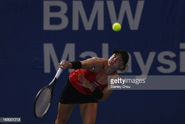 Bethanie MattekSands of USA plays in action during the Singles Final against Karolina Pliskova of Czech Republic during the 2013 BMW Malaysian Open...