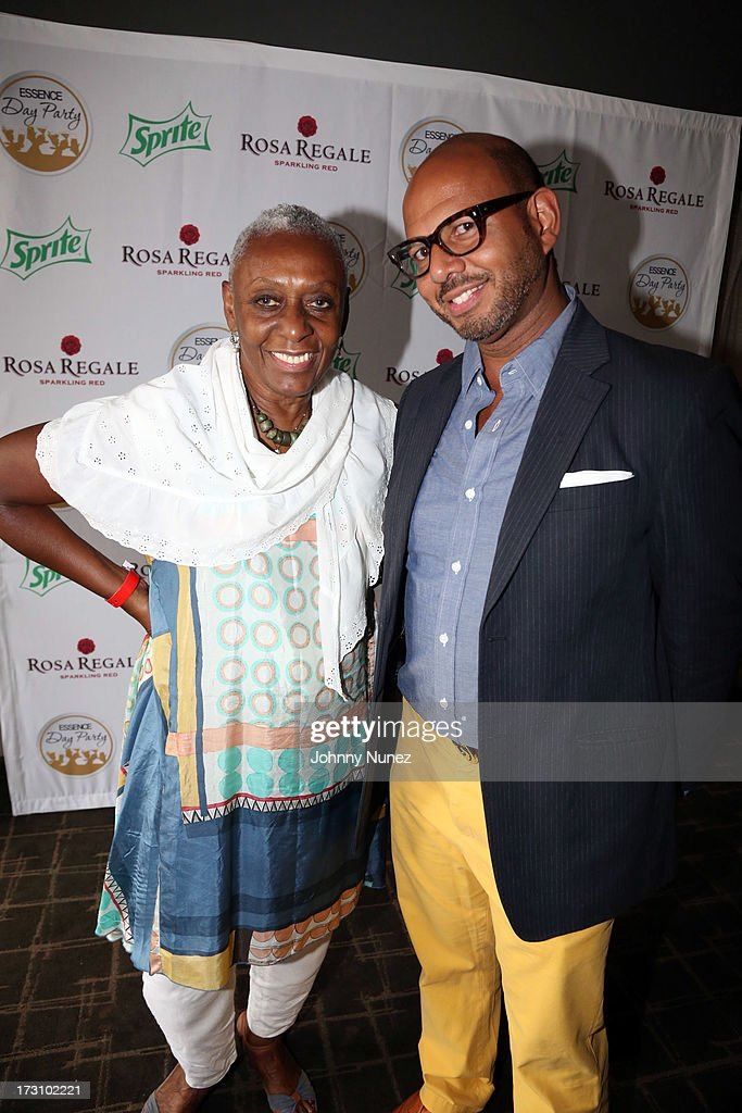 Bethann Hardison and Emil Wilbekin attend the Essence Day party at the W New Orleans on July 6, 2013 in New Orleans, Louisiana.