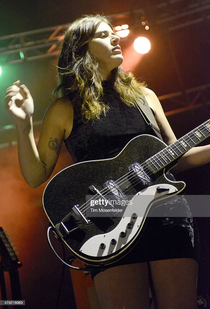 Bethany Cosentino of Best Coast performs in support of the band's 'Fade Away' release at The Fox Theatre on February 21 2014 in Oakland California
