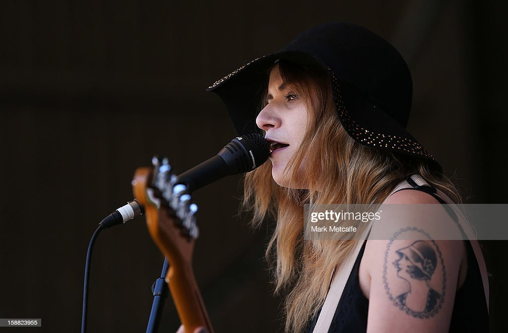 Bethany Cosentino of Best Coast performs live on stage at The Falls Music and Arts Festival on December 31, 2012 in Lorne, Australia.