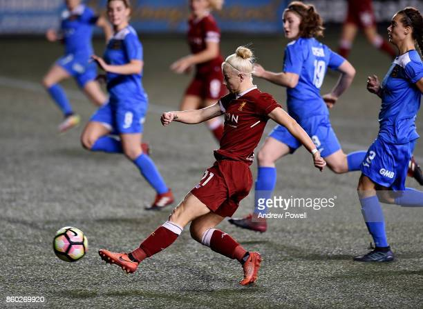 Bethany England of Liverpool Ladies comes close during the Women's Super League match between Liverpool Ladies and Sheffield FC Ladies at Select...