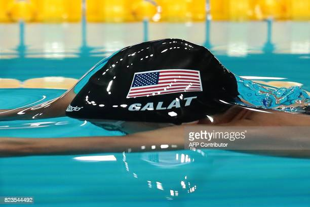 US Bethany Galat competes in a women's 200m breaststroke semifinal during the swimming competition at the 2017 FINA World Championships in Budapest...