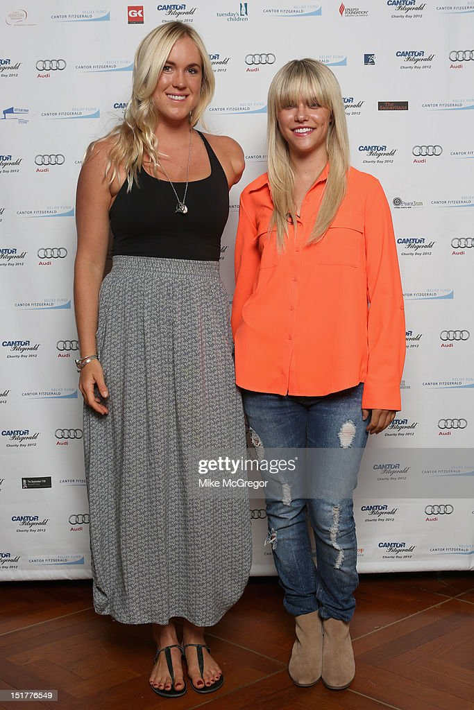 Bethany Hamilton and Lauren Scruggs attend Cantor Fitzgerald & BGC Partners host annual charity day on 9/11 to benefit over 100 charities worldwide at Cantor Fitzgerald on September 11, 2012 in New York City.