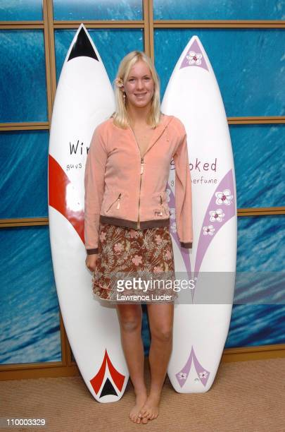 Bethany Hamilton during Surfer and Shark Attack Survivor Bethany Hamilton Unveils Stoked and Wired New Fragrances by Revelations Perfumes at Givaudan...