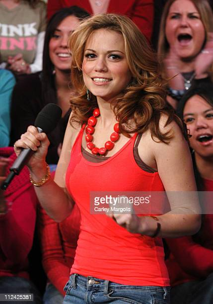 Bethany Joy Lenz during Ice Cube Jamie Lynn Spears Tyler Hilton and Bethany Joy Lenz Visit MTV's 'TRL' January 21 2005 at MTV Studios in New York...