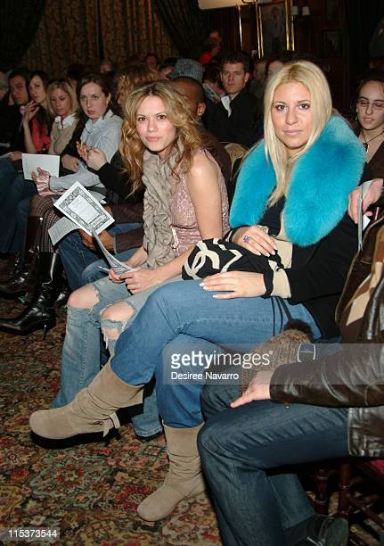 Bethany Joy Lenz during Olympus Fashion Week Fall 2005 Ruffian Backstage and Front Row at National Arts Club in New York City New York United States