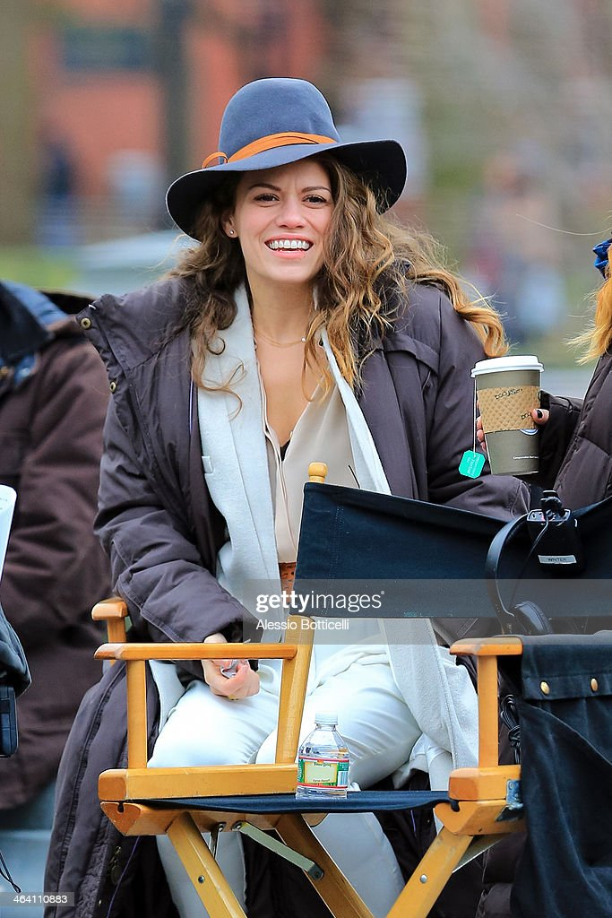 <a gi-track='captionPersonalityLinkClicked' href=/galleries/search?phrase=Bethany+Joy+Lenz&family=editorial&specificpeople=209329 ng-click='$event.stopPropagation()'>Bethany Joy Lenz</a> is seen on location in Washington Square Park filming 'Songbyrd' on January 20, 2014 in New York City.