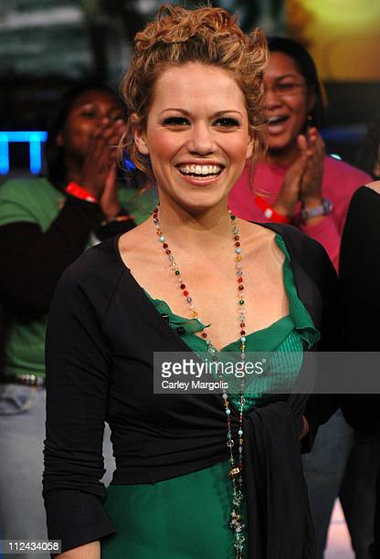 Bethany Joy Lenz of 'One Tree Hill' during The Cast of 'One Tree Hill' Takes Over MTV's 'TRL' January 25 2005 at MTV Studios in New York City New...