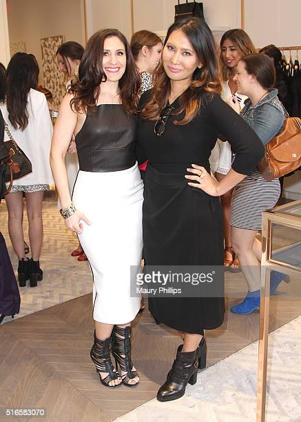 Bethany Morgan and Heidi Nazarudin attend Kimora Lee Simmons x Blogger Babes spring preview on March 19 2016 in Beverly Hills California