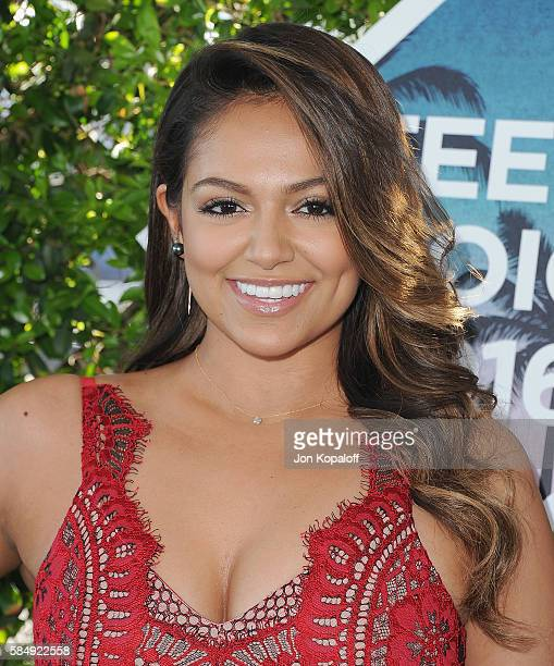 Bethany Mota arrives at the Teen Choice Awards 2016 at The Forum on July 31 2016 in Inglewood California