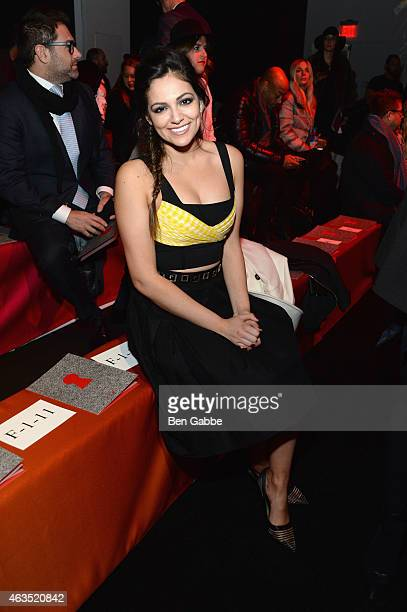 Bethany Mota attends the Diane Von Furstenberg fashion show during MercedesBenz Fashion Week Fall 2015 at Spring Studios on February 15 2015 in New...