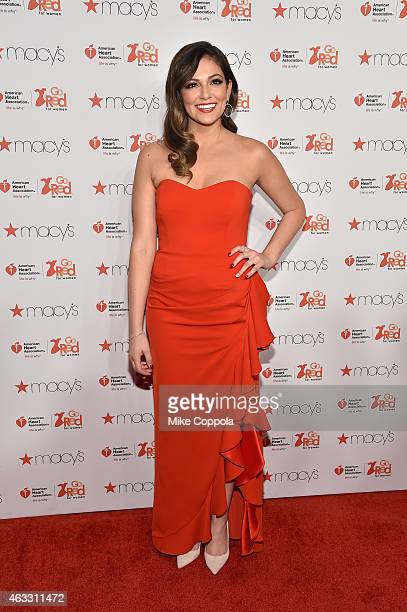Bethany Mota attends the Go Red For Women Red Dress Collection 2015 presented by Macy's fashion show during MercedesBenz Fashion Week Fall 2015 at...