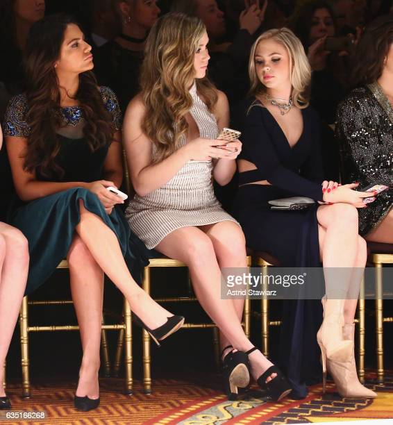Bethany Mota Brec Bassinger and Jordyn Jones attend the Sherri Hill NYFW Fall 2017 Runway Show during New York Fashion Week at Gotham Hall on...