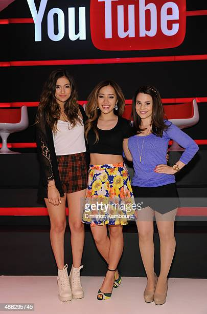 Bethany Mota Michelle Phan and Rosanna Pansino attend Unleash YouTube Event with stars Michelle Phan Rosanna Pansino And Bethany Mota on April 23...