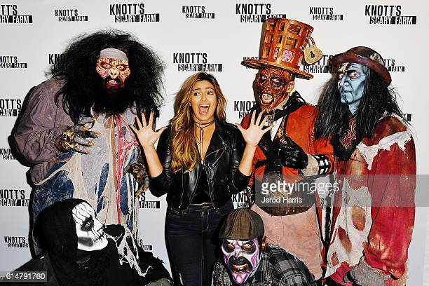 Bethany Mota visits Knott's Scary Farm at Knott's Berry Farm on October 14 2016 in Buena Park California