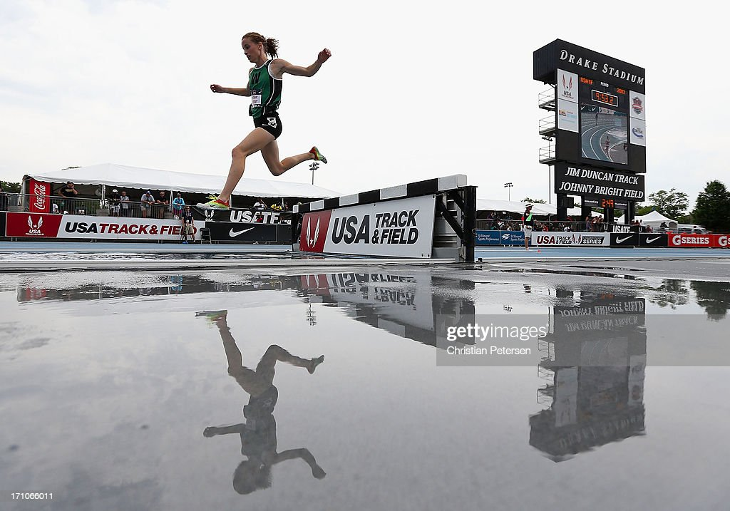 Bethany Neeley competes in the Women's Junior 3000 Meter Steeplechase on day two of the 2013 USA Outdoor Track & Field Championships at Drake Stadium on June 21, 2013 in Des Moines, Iowa.