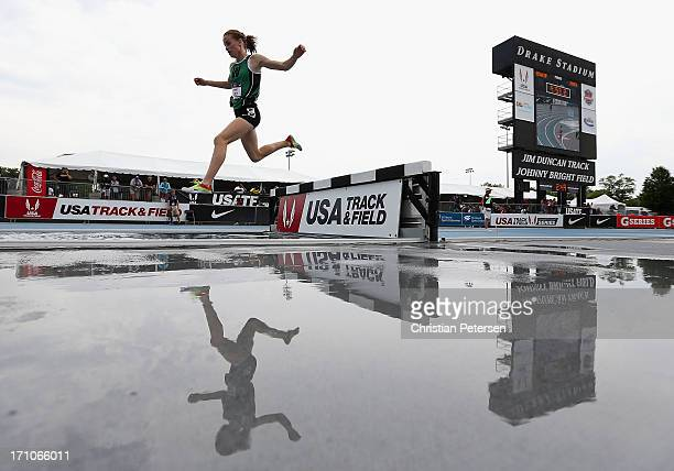 Bethany Neeley competes in the Women's Junior 3000 Meter Steeplechase on day two of the 2013 USA Outdoor Track Field Championships at Drake Stadium...