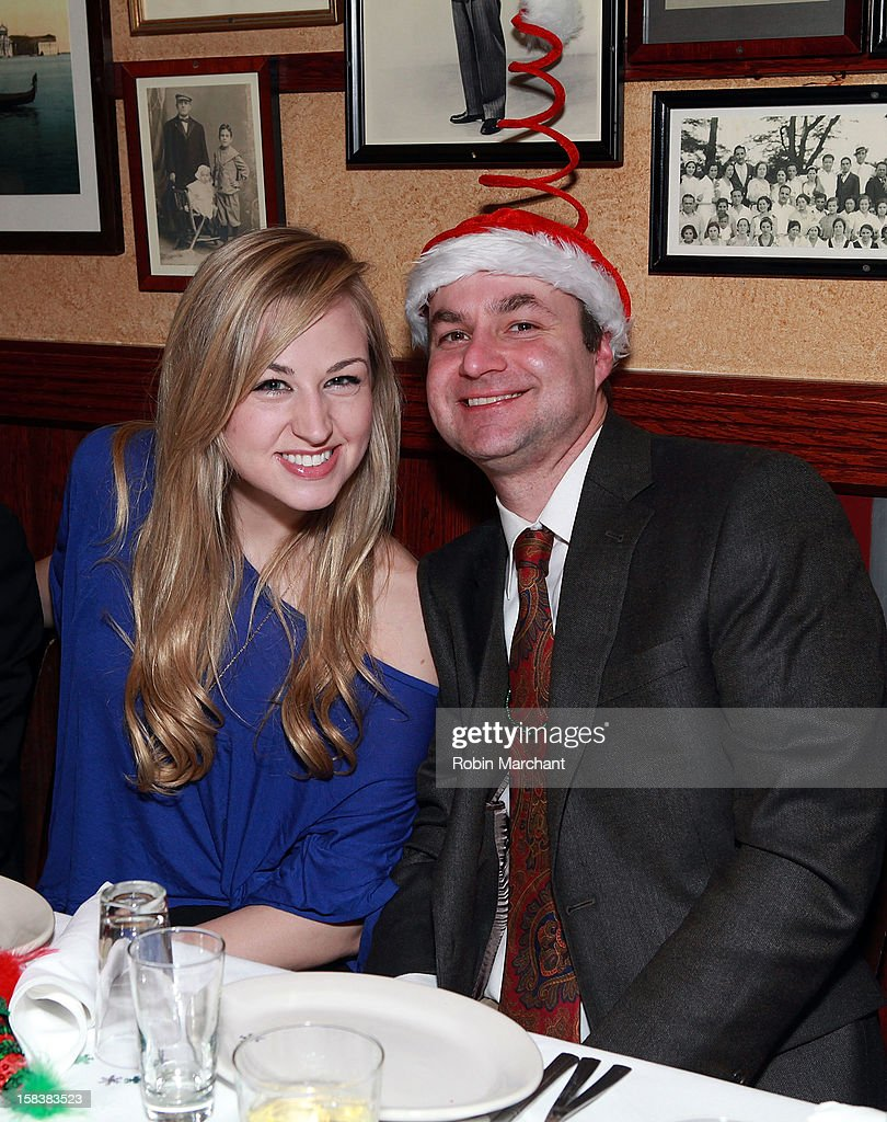 Bethany Watson (L) attends Elvis Duran Morning Show Holiday Party at Carmine's on December 14, 2012 in New York City.
