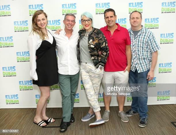 Bethany Watson host Elvis Duran comedian Lisa Lampanelli Skeery Jones and David Brody pose for a photo when Lisa Lampanelli visits the 'Elvis Duran...