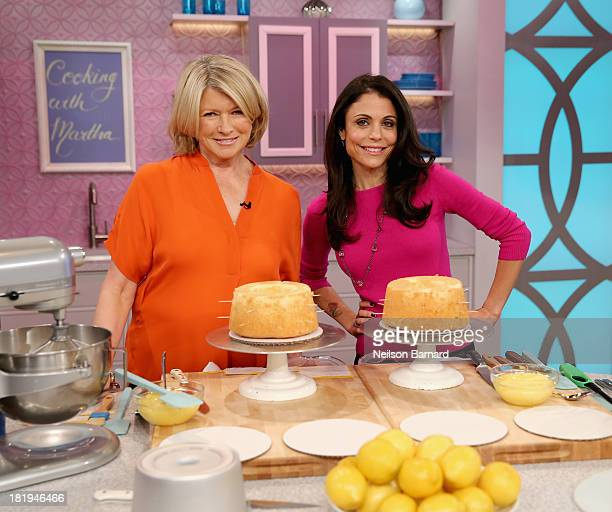 Bethenny and Martha Stewart tape 'bethenny' at the CBS Broadcast Center on September 26 2013 in New York City