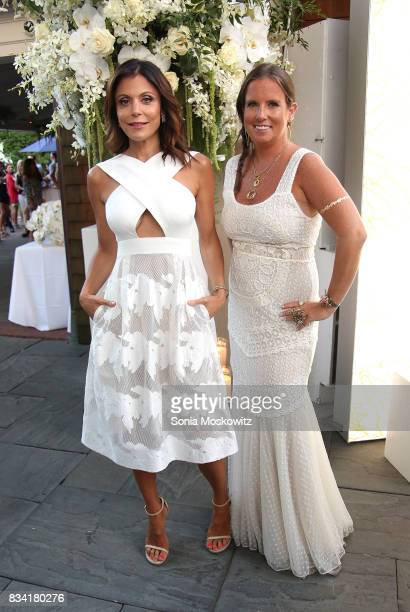 Bethenny Frankel and Bronwen Smith attend the B Floral Cocktail Hour at the Southampton Social Club on August 17 2017 in Southampton New York