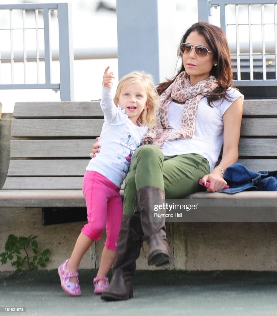 Bethenny Frankel and Bryn Hoppy are seen at the Westside Park in Soho on September 25 2013 in New York City