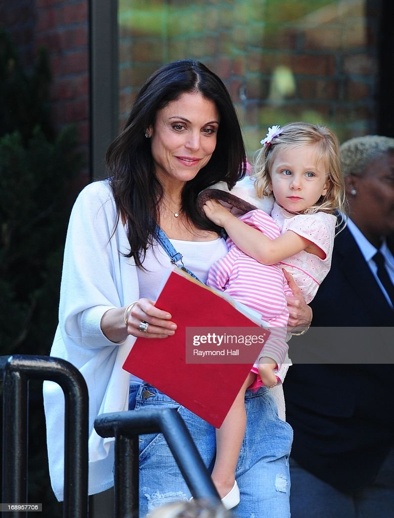 Bethenny Frankel and Bryn Hoppy are seen in Soho on May 17 2013 in New York CityPhoto by Raymond Hall/FilmMagic