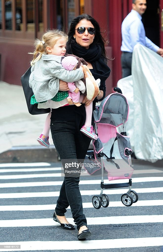 Bethenny Frankel and Bryn Hoppy are seen in Soho on on May 15 2013 in New York City