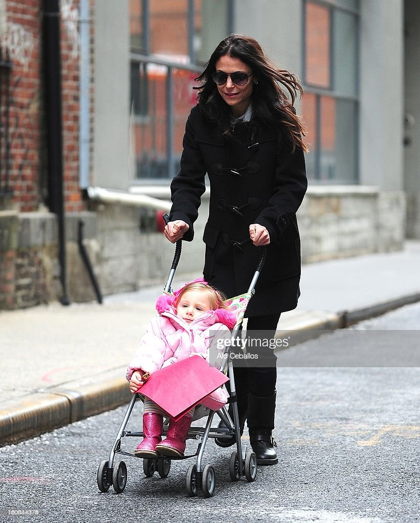 Bethenny Frankel and Bryn Hoppy are seen in the Tribeca on February 6, 2013 in New York City.