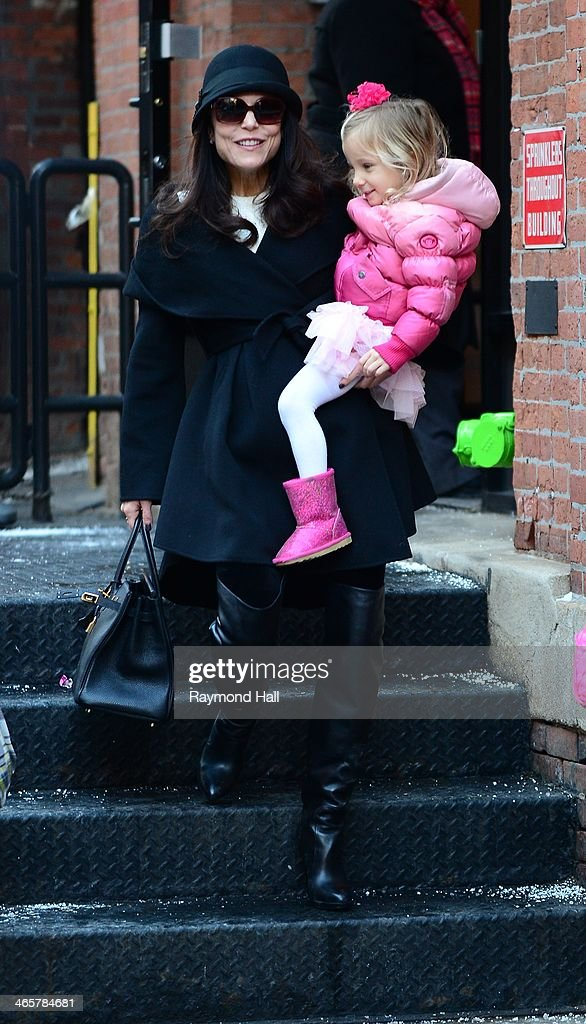 Bethenny Frankel and Bryn Hoppy are seen in Tribeca on January 29 2014 in New York City