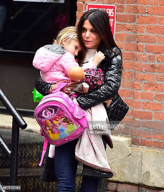 Bethenny Frankel and Bryn Hoppy are seen in Tribeca on March 25 2015 in New York City