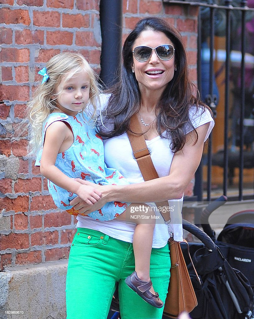 Bethenny Frankel and Bryn Hoppy are seen on October 2 2013 in New York City