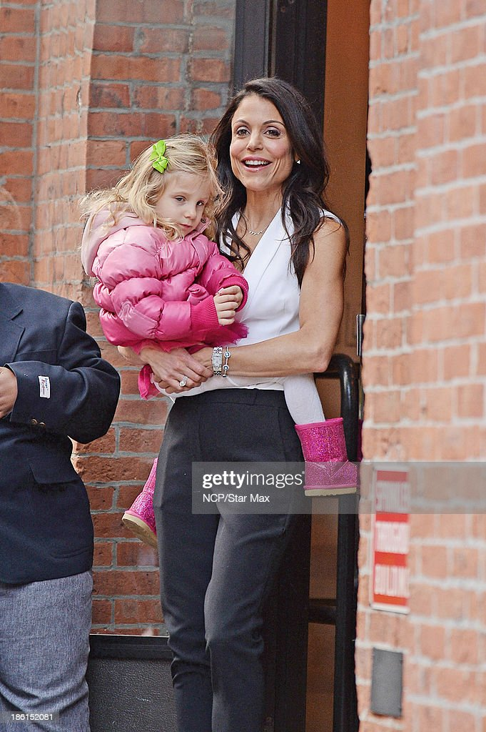 Bethenny Frankel and Bryn Hoppy are seen on October 28 2013 in New York City