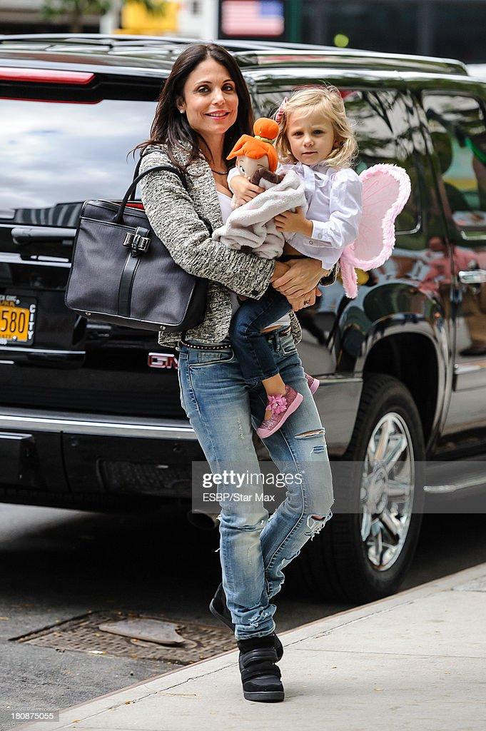 Bethenny Frankel and Bryn Hoppy are seen on September 16, 2013 in New York City.