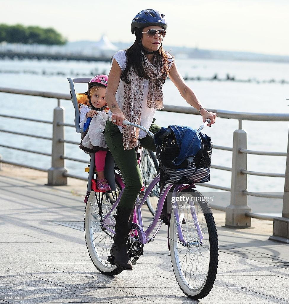 Bethenny Frankel and Bryn Hoppy are seen on the West Side Highway on September 25 2013 in New York City
