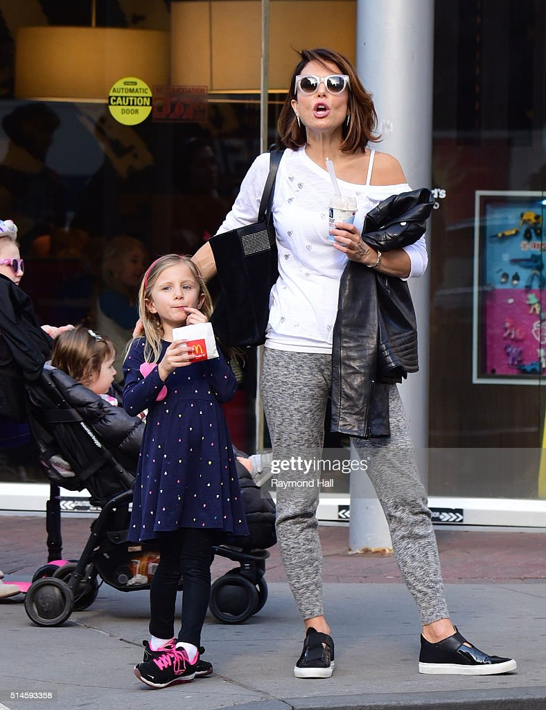 Bethenny Frankel and Bryn Hoppy are seen outside McDonalds in Soho on March 9 2016 in New York City