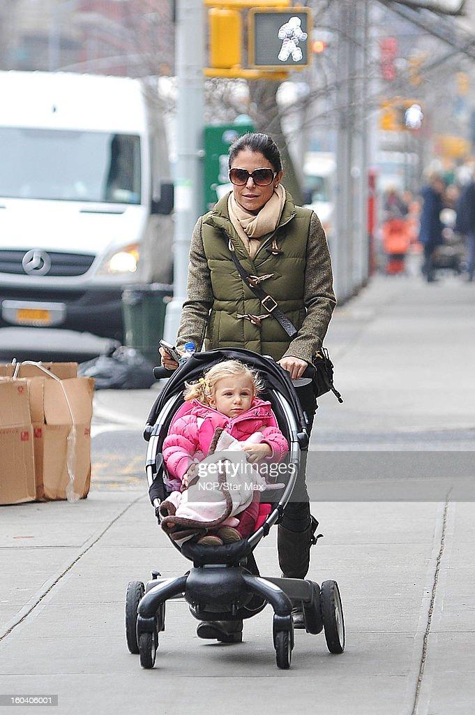 Bethenny Frankel and Bryn Hoppy sighting on January 30 2013 in New York City