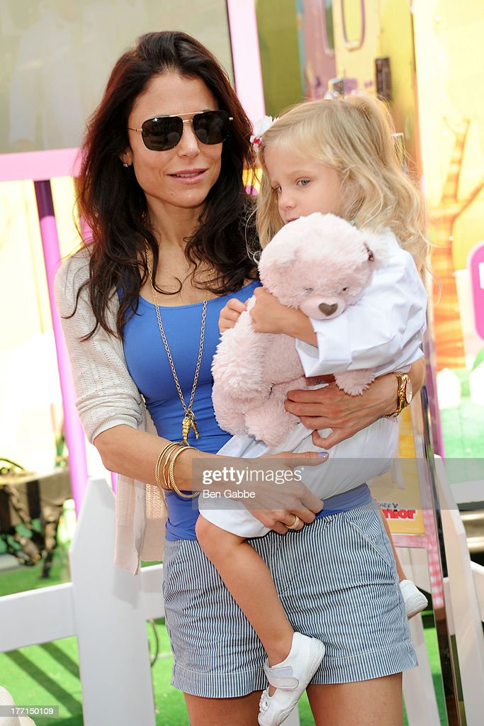 Bethenny Frankel and daughter Bryn Hoppy attend the Doc Mobile Tour at the Disney Store on August 21 2013 in New York City