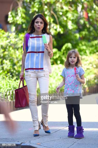 Bethenny Frankel and her daughter Bryn are seen on May 17 2017 in New York City