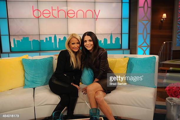 Bethenny Frankel hosts Kim Richards Elise Neal Bresha Webb Heather Dubrow and talks about winter skin remedies on 'bethenny' at CBS Broadcast Center...