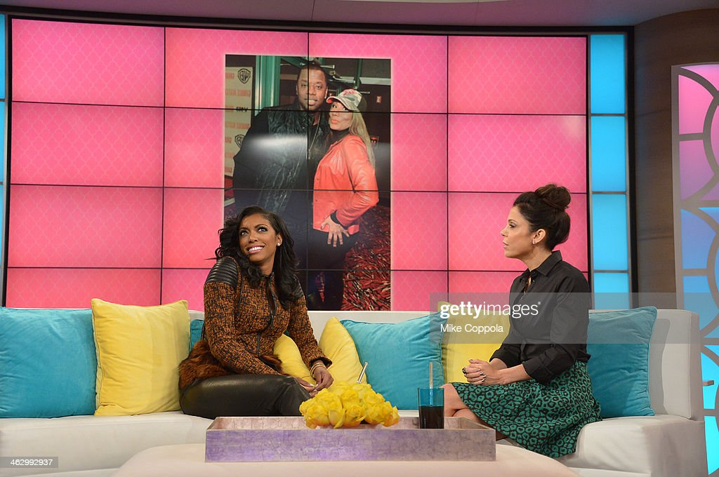 <a gi-track='captionPersonalityLinkClicked' href=/galleries/search?phrase=Bethenny+Frankel&family=editorial&specificpeople=873539 ng-click='$event.stopPropagation()'>Bethenny Frankel</a> (R) hosts Porsha Williams and shares bathtub essentials on 'bethenny' at CBS Broadcast Center January 13, 2014 in New York City. The show will air January 16.
