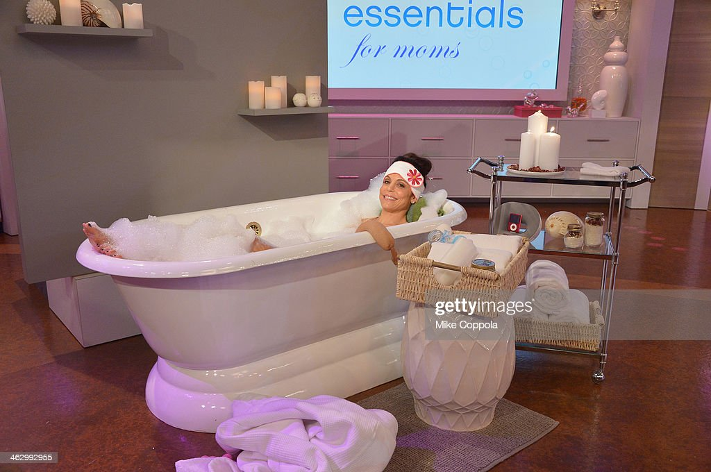 <a gi-track='captionPersonalityLinkClicked' href=/galleries/search?phrase=Bethenny+Frankel&family=editorial&specificpeople=873539 ng-click='$event.stopPropagation()'>Bethenny Frankel</a> hosts Porsha Williams (not pictured) and shares bathtub essentials on 'bethenny' at CBS Broadcast Center January 13, 2014 in New York City. The show will air January 16.