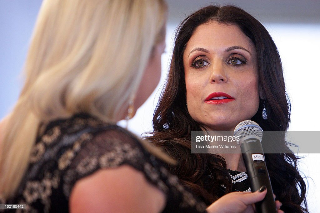 Bethenny Frankel is interviewed by Angela Bishop during the Skinnygirl Cocktail Pre-Party at Opera Point Marquee on February 20, 2013 in Sydney, Australia.